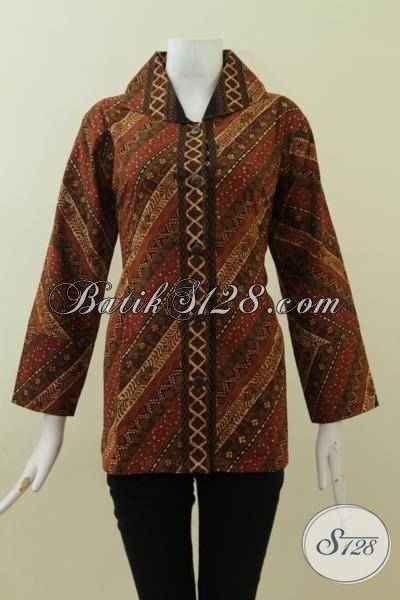 Baju Batik Motif Klasik Proses Cap Tulis Desain Mewah Trend Terbaru, Blus Batik Wanita Dewasa Tampil Elegan Di Setiap Acara [BLS2722CT-L]