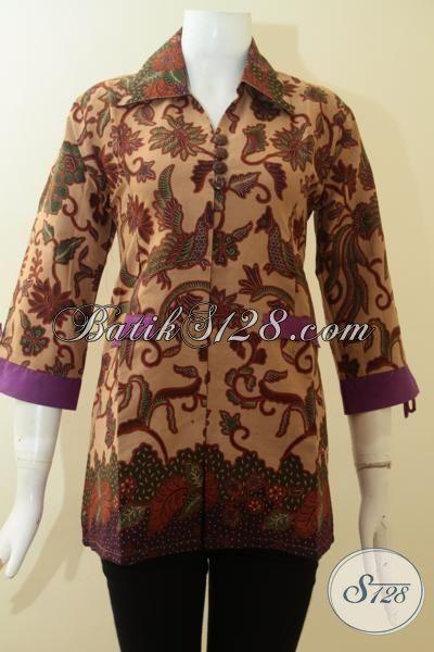 Blus Batik Klasik Desain Istimewa Untuk Santai Dan Seragam Kantor, Baju Batik Print Asli Produk Solo, Size M – XL