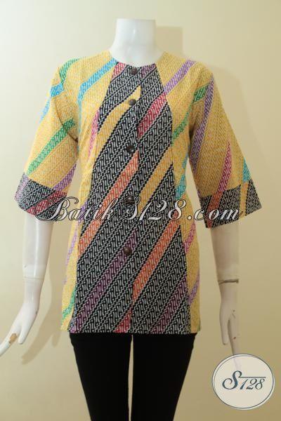 Blus Batik Motif Parang Untuk Wanita Kantor,Motif Batik Parang Kecil [BLS2771P-M]
