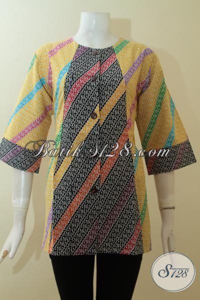 Update Produk Batik Solo 2015, Baju Blus Batik Trendy Dan Bagus Proses Printing Harga Lebih Terjangkau Tampil Tetap Cantik Maksimal, Size L – XXL
