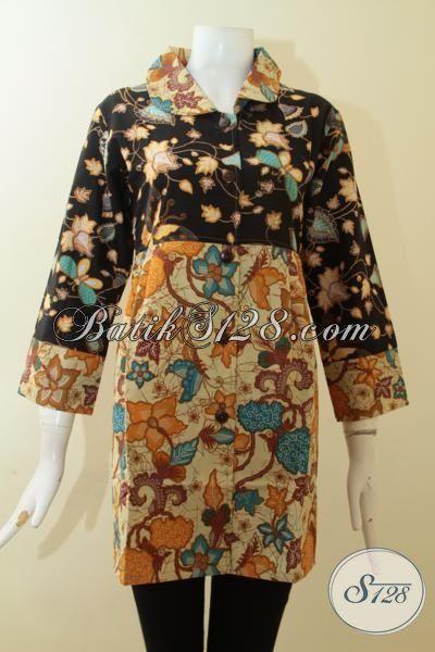 Blus Atasan Batik Kerja Untuk Wanita Pegawai Kantor,Kombinasi Warna Batik Yang Cantik Untuk Blus Batik Wanita [BLS2797P-M]