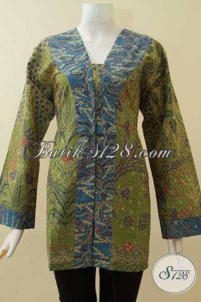 Baju Atasan Batik Untuk Ibu Muda Dan Perempuan Remaja Putri Aktif [BLS2822P-XL]