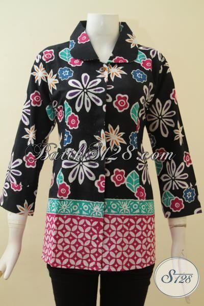 Busana Batik Handmade Solo,Blus Batik Cap Untuk Wanita Aktif [BLS2829C-M]