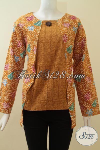 Blus Batik Wanita Model Resleting Belakang,Baju Batik ...