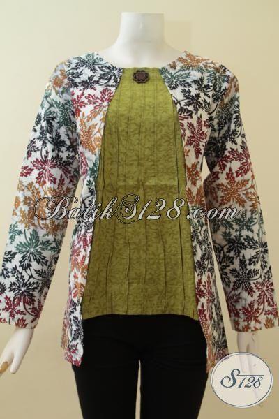 Baju Batik Wanita Masa Kini Model Baju Batik Modern 2018