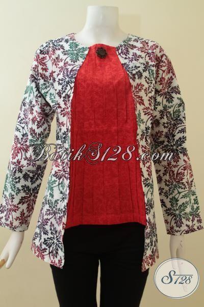 Baju Batik Modern Motif Daun Pepaya Baju Batik Blus Paling Keren