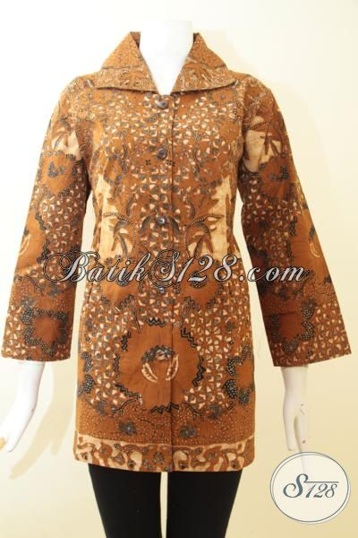 Pakaian Batik Motif Klasik Warna Coklat Khas Solo Jawa