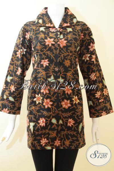 Pakaian Batik Terbaru Untuk Cewek, Baju Batik Halus Proses Tulis, Blus Batik IstimewaFull Furing Lebih Mewah, Size L