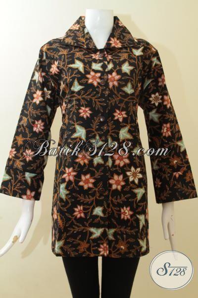 Jual Baju Batik Cewek Premium, Pakaian Batik Berkelas, Busana Kerja Batik Full Furing Proses Tulis Langganan Para Manager, Size XL