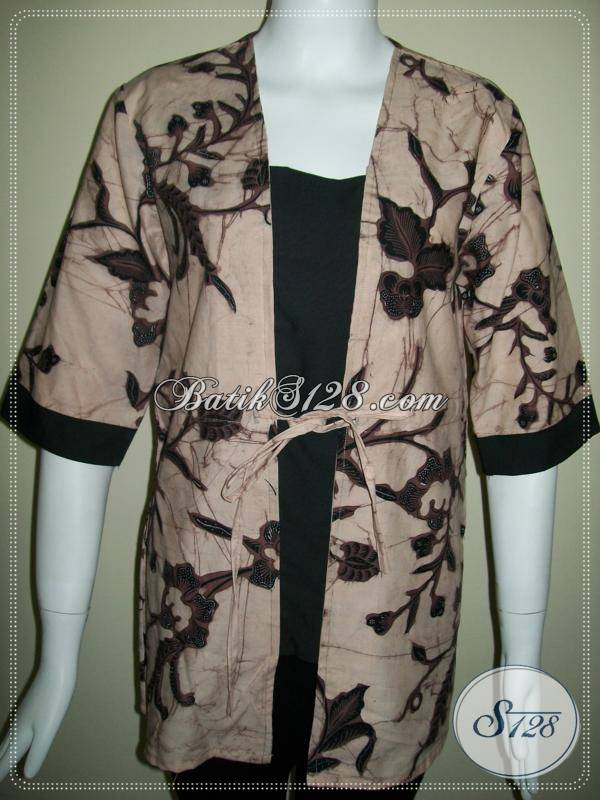 Motif Batik Terkini Untuk Baju Wanita Kantor Bls291bt M