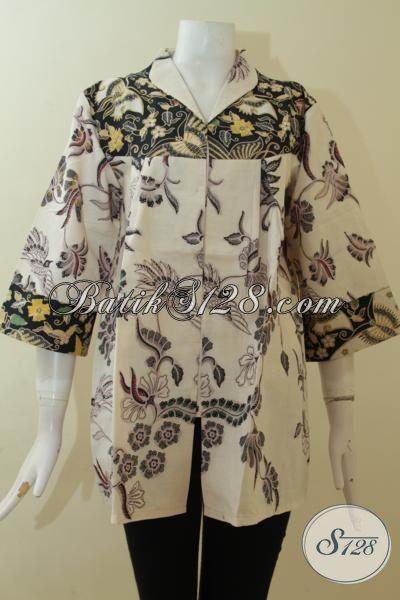 Trend Batik Jawa Untuk Wanita Model 2015, Pakaian Batik Masa Kini Berbahn Halus Dan Adem Nyaman Di Pakai Siang Maupun Malam [BLS2977BT-XL]