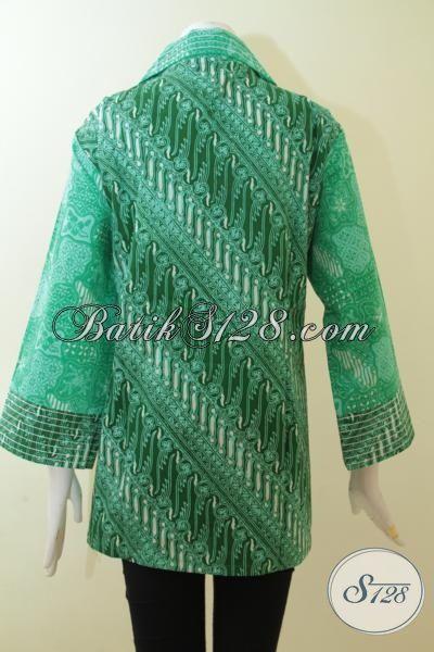 Pakaian Blus Batik Proses Cap Tulis Masa Kini, Batik Wanita Muda 2015 Lebih Keren Trendy Dan Modis, Cocok Untuk Ke Kantor Dan Pesta [BLS3012CT-XXL]