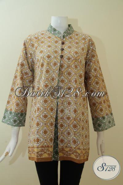 Toko Online Baju Batik Istimewa Exclusive Perempuan Karir, Batik Cap Buatan Solo Motif Unik Tampil Lebih Berkharisma, Size L