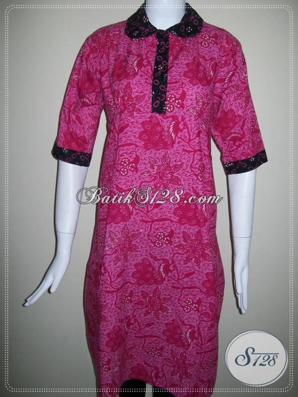 Dress Batik Selutut Untuk Busana Batik Pesta Wanita Fashionable [BLS310CT]