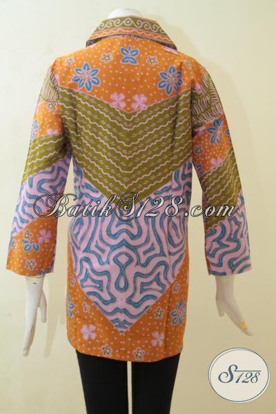 Baju Kerja Batik Desain Terbaru, Batik Blus Motif Klasik Printing, Batik Wanita Tampil Lebih Berkharisma [BLS3134P-XL]