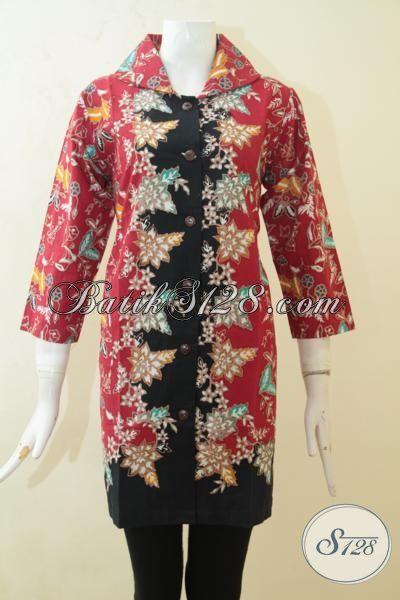 Baju Batik Keren Desain Mewah Berpadu Motif Berkelas, Batik Blus Istimewa Model Terbaru Lebih Halus  Bahan Batik  Cap Tulis Size M