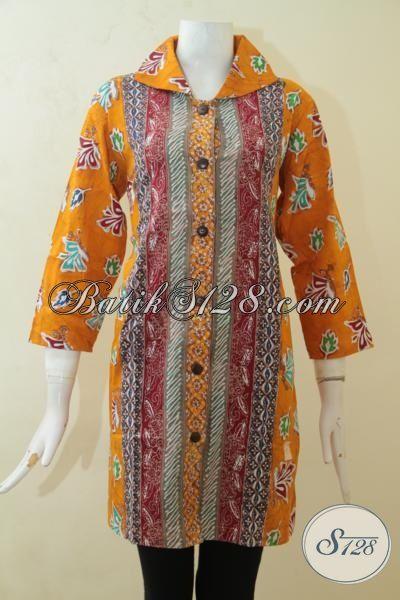 Sedia Baju Batik Blus Cap Tulis Kwalitas Premium, Batik Jawa Motif Terkini Lebih Modis Dan Fashionable, Size L