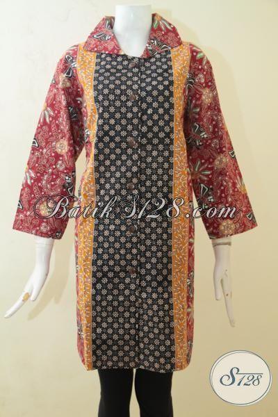 Pusat Batik Baju Kerja Online Pilihan Terlengkap, Jual Blus Batik Cap Tulis Desain Trendy Kwalitas Halus Ukuran XXL Pas Untuk Cewek Gemuk Karir Aktif