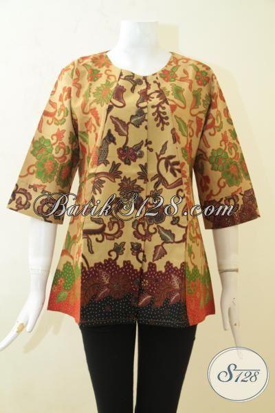 Pakaian Batik Murah Kwalitas Bagus Trend Mode Masa Kini, Baju Batik Printing Desain Istimewa Pas Buat Ke Pesta Dan Kerja [BLS3162P-M , XL]