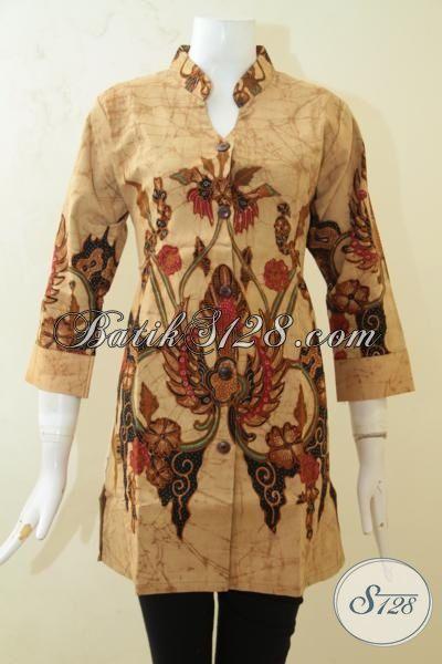 Jual Busana Batik Premium Harga Grosir, Pakaian Batik Baju Kerja Masa Kini Full Furing Yang Lebih Mewah Dan Modis, Size M