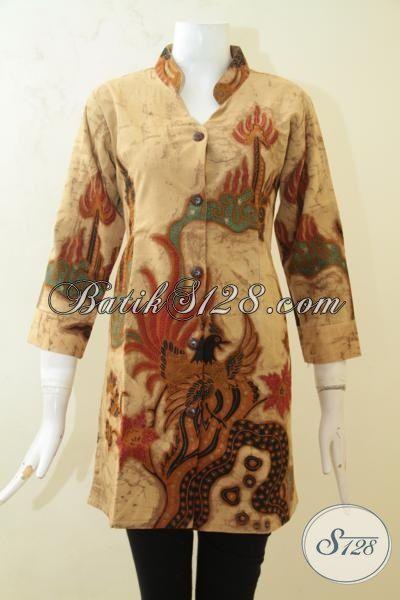 Tampil Cantik Dan Berkharisma Dengan Batik Blus Solo Desain Mewah, Pakaian Batik Full Furing Warna Klasik Motif Modern Cewek Lebih Keren Luar Biasa [BLS3192TF-M]