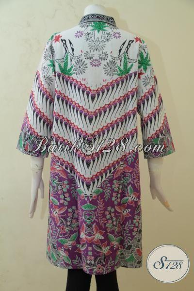 Blus Keren Untuk Wanita Muda Maupun Dewasa, Baju Batik Printing Motif Bagus Bahan Halus Harga Terjangkau, Size L