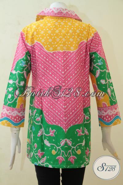 Baju Printing Batik Model Elegan Berpadu Motif Bagus