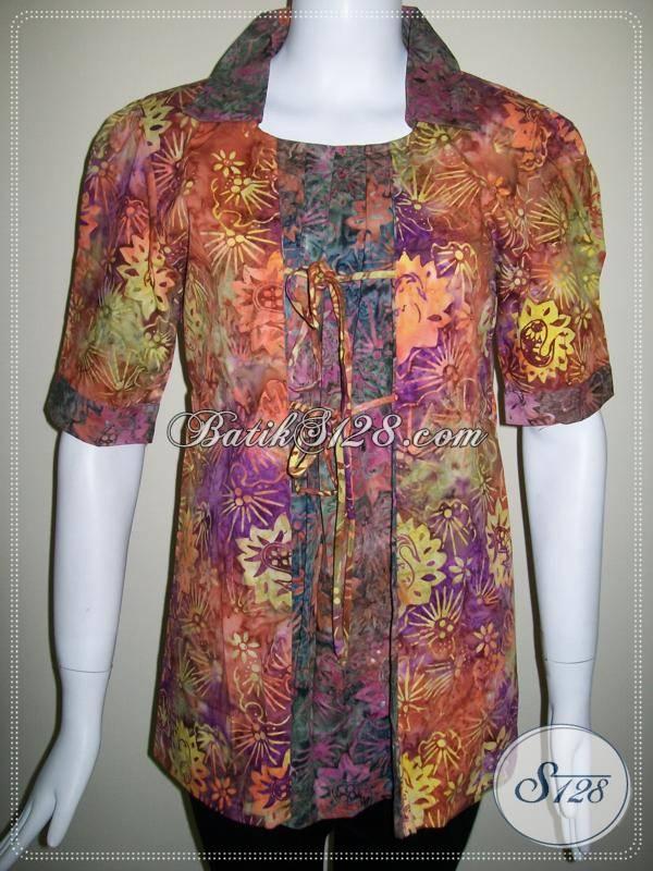 Baju Batik Model Dua Warna Batik Trendy Asli Kota Solo