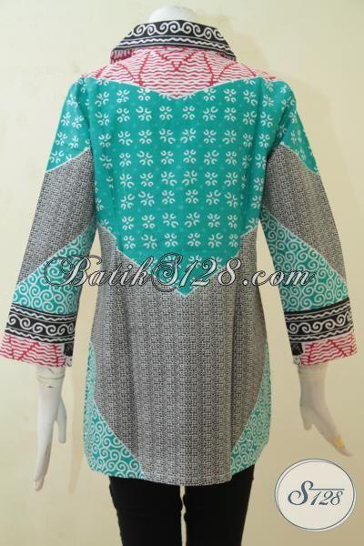 Tampil Cantik Dan Trendy Dengan Batik Blus Solo, Busana Batik Printing Berkelas Desain Mewah Harga Bawah [BLS3231P-XL]