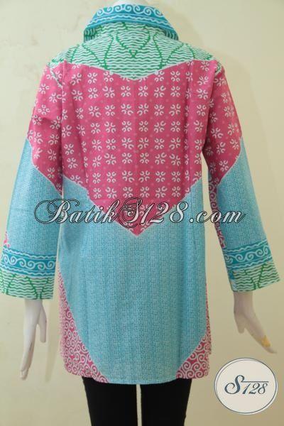 Tampil Modis Dan Cantik Dengan Baju Blus Batik Solo Model Terbaru, Pakaian Batik Halus Proses Print Harga Murmer, Size S – L