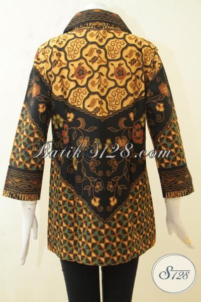 Jual Batik Klasik Proses Printing, Batik Blus Istimewa Wanita Tampil Mempesona [BLS3239P-L]