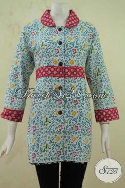 Busana Batik Motif Bunga Bunga Dengan Motif Ikat Pinggang Baju Batik