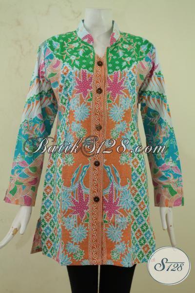 Sedia Online Pakaian Batik Wanita Muda Karir Aktif Batik