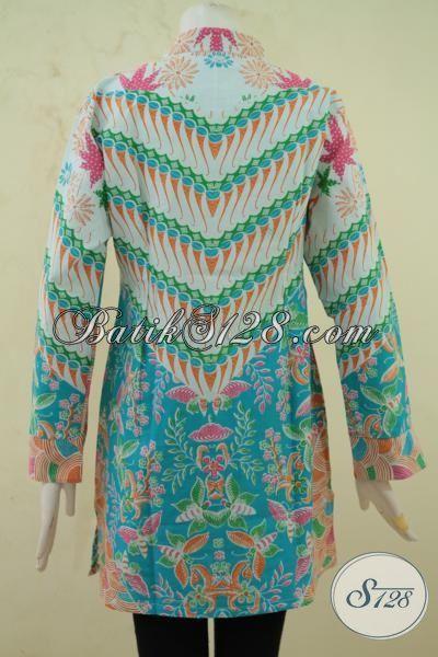Jual Aneka Pakaian Batik Pesta Perempuan Muda, Batik Model Megah Cewek Makin Terlihat Luar Dewasa, Batik Blus Modis Proses Print Harga Murmer, Size S – L