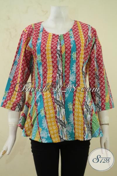 Batik Baju Cewek Model Terkini Blus Batik Mewah Harga