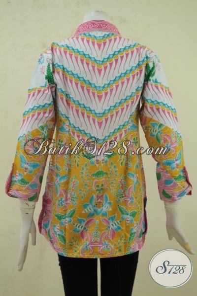 Blus Batik Remaja Putri, Pakaian Batik Wanita Muda Size S, Baju Pesta Bahan Batik Print Model Menarik Motif Keren