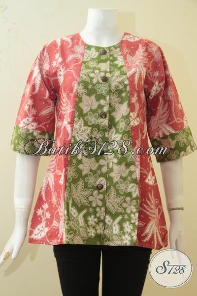 Blus Batik Wanita Muda Dan Remaja, Batik Blus Ukuran Kecik Model Terbaru Yang Modern Dan Stylist, Cocok Buat Jalan-Jalan, Size S