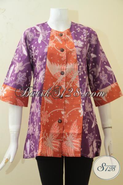 Baju Blus Dua Warna Trend Mode Masa Kini Pakaian Batik