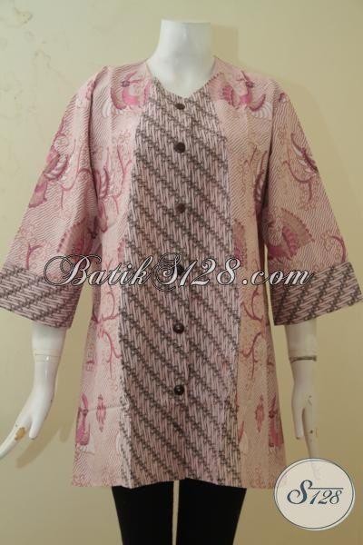 Jual Online Batik Blus Masa Kini Tampil Makin Memikat, Pakaian Batik Elegan  Size Jumbo Cocok Untuk Perempuan Gemuk, Size XXL