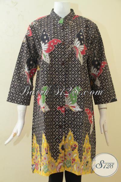 Baju Blus Batik Ukuran Jumbo Desain 2015, Busana Batik Wanita Gemuk Proses Printing Kwalitas Premium, Size XXL