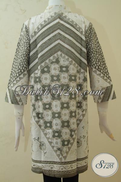 Baju Blus Halus Warna Alam Proses Kombinasi Tulis, Pakaian Batik Klasik Elegan Desain Mewah Membuat Perempuan Lebih Berkelas, Size S