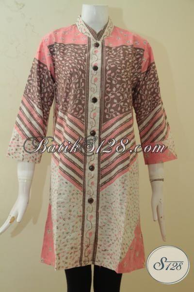 Batik Blus Masa Kini Dengan Warna Cerah, Baju Batik Kombinasi Tulis Warna Alam Lebih Halus Dan Adem Hadir Dengan Desain Berkelas [BLS3399BTA-M]