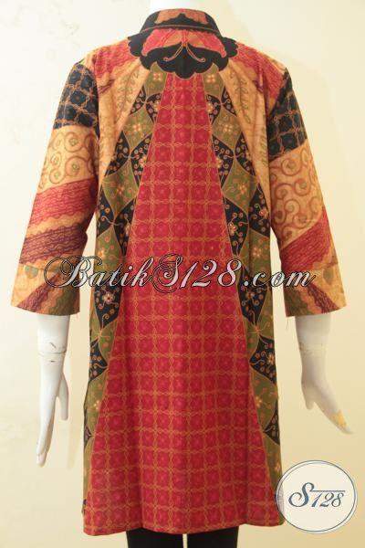 Pakaian Batik Desain Terbaru Motif Klasik Proses Kombinasi Tulis, Baju Batik Formal Masa Kini Untuk Wanita Tampil Makin Cantik Memikat, Size S
