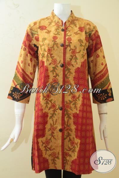 Butik Batik Jual Online Batik Blus Istimewa Kombinasi Tulis, Baju Batik Klasik Motif Kombinasi Lebih Keren Dan Mewah, Size S
