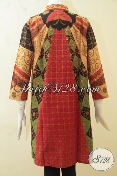 Batik Blus Ukuran XL Pas Buat Wanita Dewasa, Baju Batik Formal Berbahan Bagus Dan Adem Nayman Di Pakai, Batik Kombinasi Tulis Klasik Lebih Terlihat Berkelas