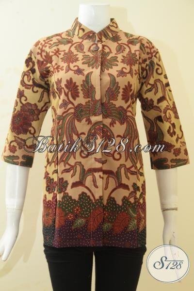 Pakaian Blus Batik Proses Printing Motif Bagus Banget Desain Terbaru Untuk Perempuan Muda Dan Dewasa, Size S – M – L – XL