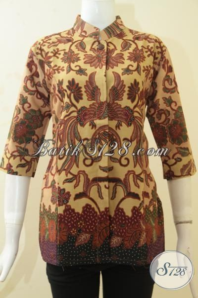 Batik Blus Berkelas Harga Murah, Pakaian Batik Seragam Kerja Cewek Masa Kini Tampil Makin Anggun  Dan Cetar Membahana, Size S – M – L – XL