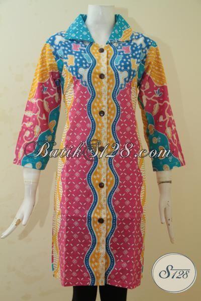 Jual Baju Batik Modern Kwalitas Halus Proses Printing Blus Batik