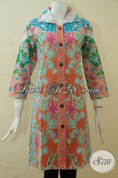 Busana Batik Model Terbaru Buat Cewek Kantoran, Blus Batik Modern Kwalitas Halus Motif Klasik Modern Pilihat Tepat Untuk Tampil Cantik Memikat, Size S – L