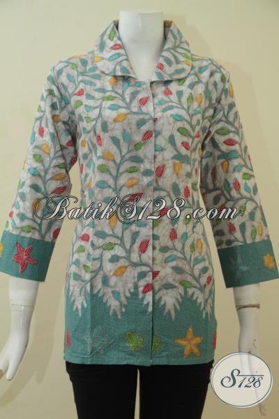 Pakaian Batik Modis Desain Berkelas, Berbahan Batik Kombinasi Tulis Halus Dan Adem, BajuBatik Istimewa Harga Terjangkau [BLS3464BT-L]